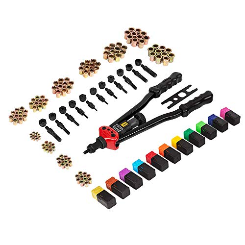 Patend 16 Inch Hand Rivet Nut Tool, Professional Rivet Nut Setter Kit with 11PCS Metric & Inch Mandrels,110PCS Rivet Nuts by patend (Image #1)