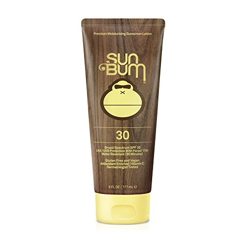 (Sun Bum Original Moisturizing Sunscreen Lotion, SPF 30, 6 oz. Tube, 1 Count, Broad Spectrum UVA/UVB Protection, Hypoallergenic, Paraben Free, Gluten Free)