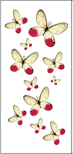 Premium Pink Butterfly Temporary Tattoos