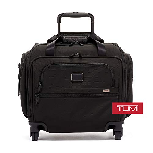 TUMI - Alpha 3 Compact 4 Wheeled Carry-On Duffel - Travel Rolling Luggage for Men and Women - Black