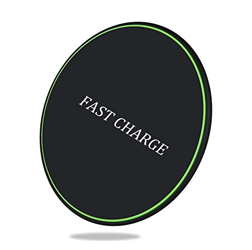 SNOHE Wireless Charger for Apple iPhone X/8/8 Plus,10w Wireless Charging Pad for Samsung s8/s9/s9 Plus/Note 8/7/s7/s7 Edge, LG g3, Nexus 4/5/6/7 and All Qi-Enable Devices