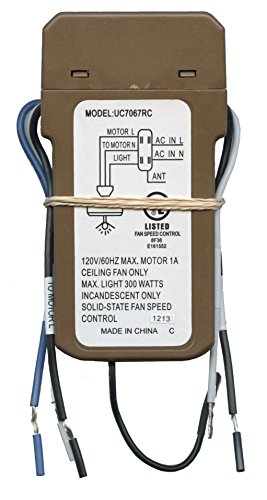 anderic replacement uc7067fcrx thermostatic ceiling fan receiver for hampton  bay and others (works with chq7096t