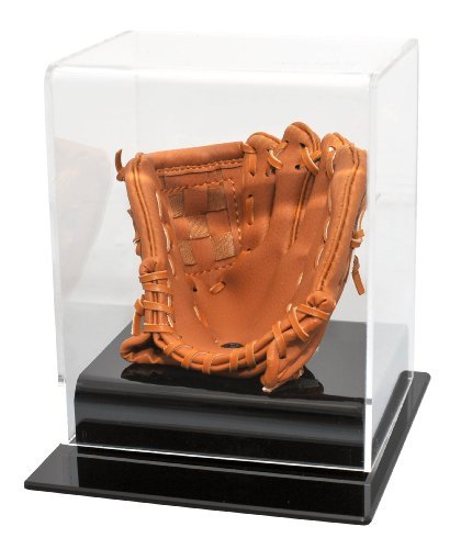 (MLB Caseworks Soft Brown Glove Baseball Display)