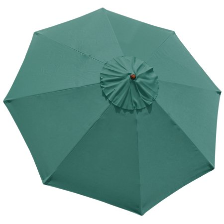 10ft Green Sunshade Umbrella Replacement Top Outdoor Garden Yard Patio Beach Market Cafe 10'