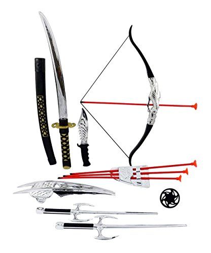 Ninja Warrior Bow & Arrow Archery Set for Kids with Katana Sword and Toy Weapons