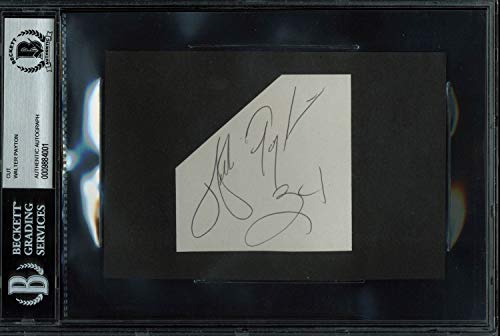 Bears Walter Payton Autographed Signed 3x3 Cut Signature Autographed Signed - Beckett Authentic