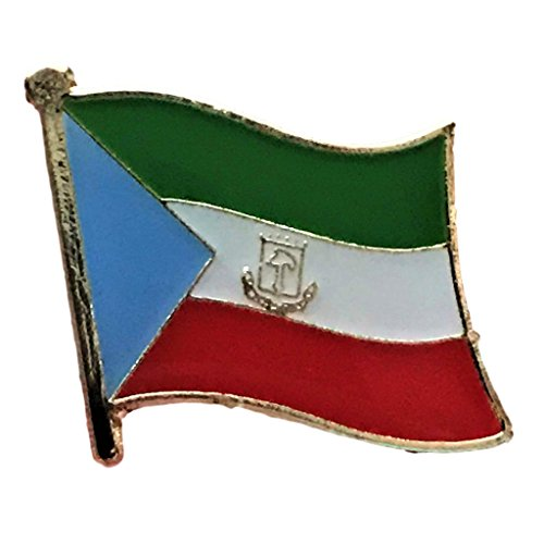 "Backwoods Barnaby Equatorial Guinea Flag Lapel Pin (0.75"" x 0.75"")"