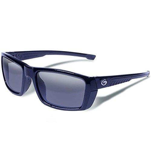 Gargoyles Performance Eyewear Siege Polarized Safety Glasses, Black Frame/Smoke with Silver Mirror Lenses
