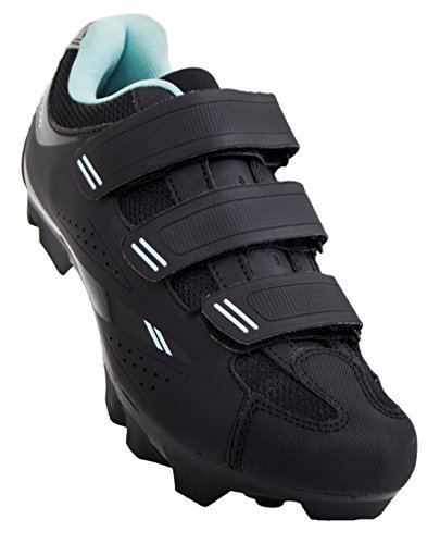 Tommaso Terra 100 Women's Mountain/Fitness SPD Biking Spin Shoe - Black/Teal -...