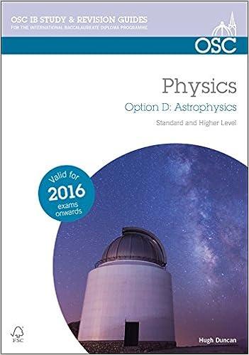 IB Physics Option D Astrophysics