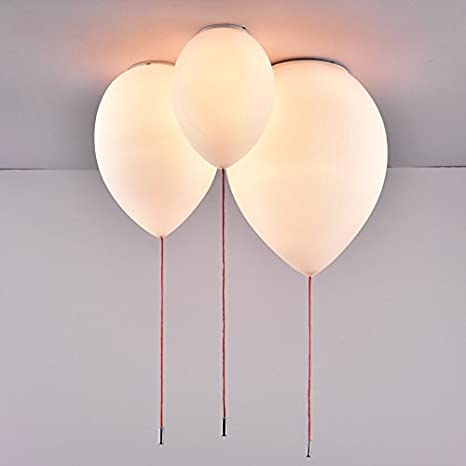 kids lighting ceiling. Jiuzhuo Minimalist Adorable White Balloon 1-Light Creative Flush Mount Ceiling Light Kids Lighting ( Y