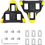 Bike Pedals Cleat for SPD-SL System Shoes -6 Degree Float for Indoor Outdoor Road Bicycle Cleat Set Cycling Eq