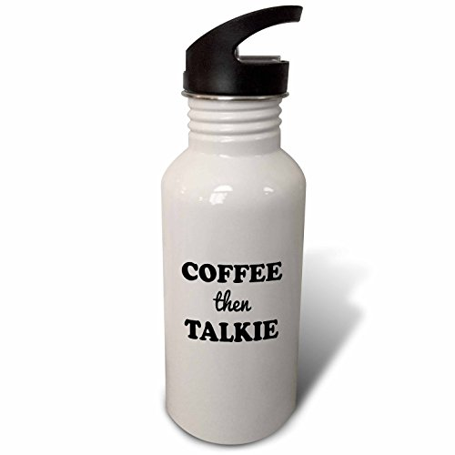 3dRose Tory Anne Collections Quotes - COFFEE THEN TALKIE - Flip Straw 21oz Water Bottle (wb_245816_2) (Water Talkies compare prices)