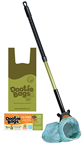 GoGo Stik, The Totally Clean Pooper Scooper. Save & Use Any Bag - Scoop & Collect till Bag Fills!