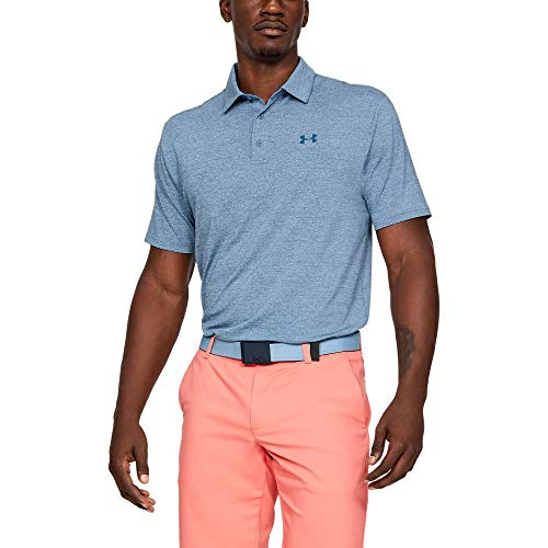 (Under Armour Men's Playoff Golf Polo 2.0, Thunder/Pitch Gray, 3X-Large)