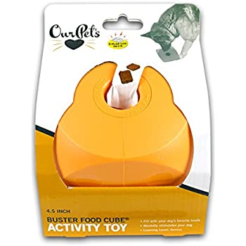 OurPets Buster Food Cube Interactive Dog Toy, Large (Colors Vary)