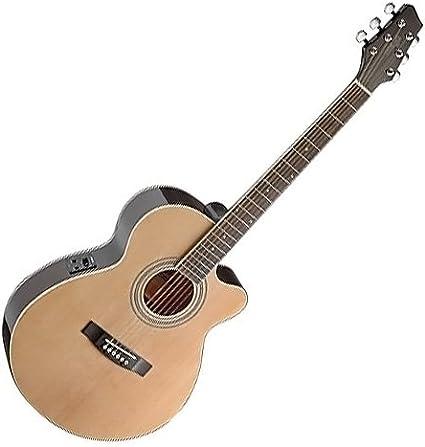 Stagg SA40MJCFI-N - Guitarra acústica con cuerdas metálicas, color ...
