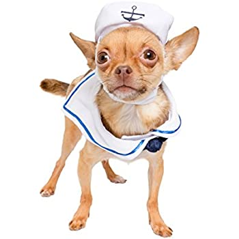Sailor Nautical Costume for Small Dogs and Cats - Great Navy Pet Costume