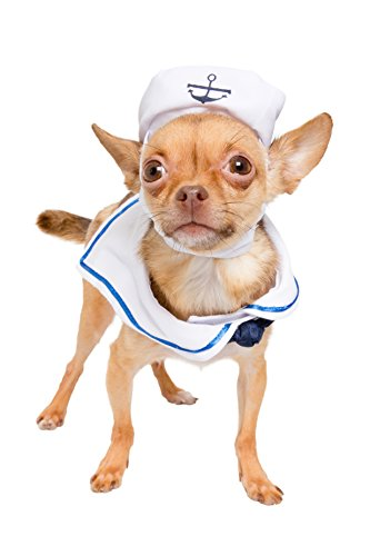 Pet Krewe PK00103 Sailor Nautical Costume for Small Dogs & Cats ()