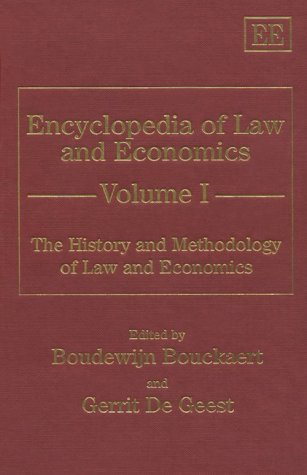 Download The History and Methodology of Law and Economics (Encyclopedia of Law and Economics, Vol 1) pdf