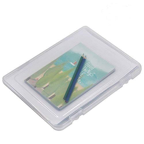 Md trade 12 x 9 x 0.8inch Portable A4 File Box Clear Desk Document Paper Organizer Plastic Storage Container Box