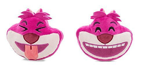 "Disney Parks 4"" Emoji Double Sided Alice in Wonderland Cheshire Cat Stuffed Plush Toy"