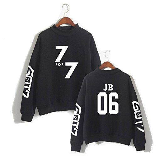 Jb06 small Manches Sweatshirt Xx Xiaomei Noir Longues Doux Femmes wXZPx8qzP