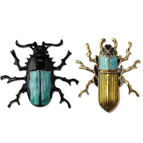 PunkStyle Enamel Beetle Insect Brooch Pin Fashion Jewelry Gifts for Women/Men