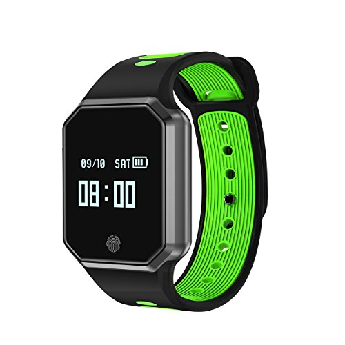 CUAEELO QW12 Men's Woman Bluetooth Smart Watch Smart Bracelet Heart Rate Waterproof Watch Detachable Sports Bracelet for Ios Android Phone (GREEN) by CUAEELO