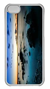 Customized iphone 5C PC Transparent Case - The Music Of Silence Personalized Cover