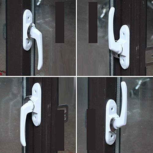 Flameer Aluminum Alloy Sash Lock for Vertical and Horizontal Sliding Windows, Single Hung, Replace Broken Sash Locks for Additional Home Security - White by Flameer (Image #6)