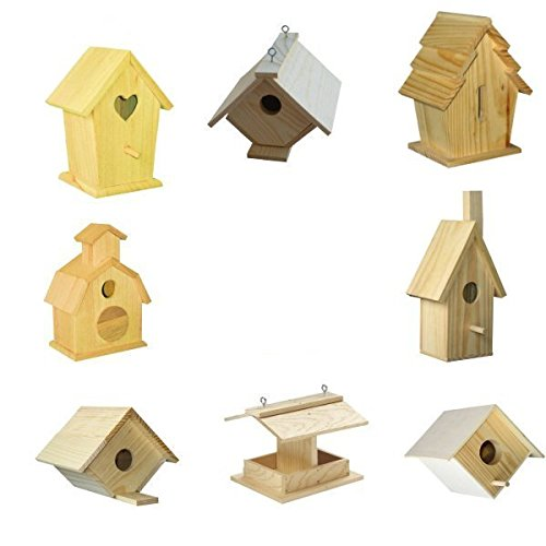 Brandine Wood Kits (8 Assorted Bird House Kits)