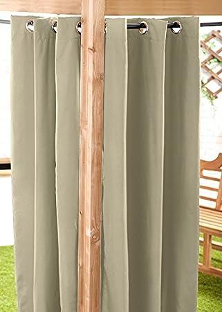 Vorhänge Für Draussen stein wasserfest fertige außen ösen vorhang 139 7 x 243 8 cm