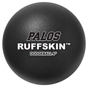 Palos RuffSKIN 6'' Black Dodgeballs - Set of 6-2 Yr. Guarantee by Palos Sports