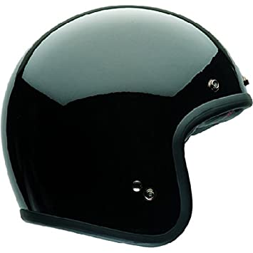 Bell 7050063 Custom 500 DLX Solid Black Casco, Solid Negro, Talla M