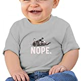 Sfjgbfjs Gray Baby Nope Lazy French Bulldog Dog Lover Gift T-Shirt 18M Soft Cozy Infant Short Sleeve Undershirts