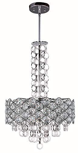 - Maxim 23095BCPC Cirque 8-Light Pendant, Polished Chrome Finish, Beveled Crystal Glass, G9 Xenon Xenon Bulb , 100W Max., Wet Safety Rating, Standard Dimmable, Glass Shade Material, 1150 Rated Lumens