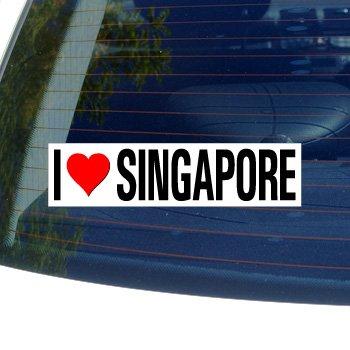 I Love Heart SINGAPORE - Window Bumper Sticker