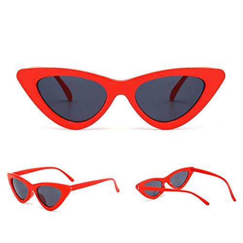 Petites Lunettes De Soleil En Yeux De Chat Pointues,OverDose Femme Intégré UV Mode Sunglasses D