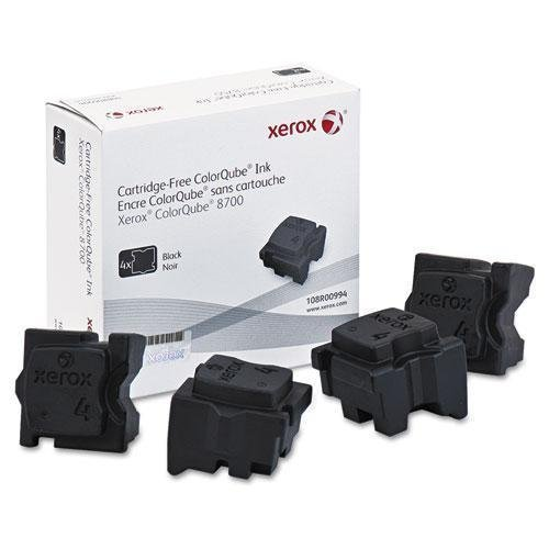 Xerox 108R00994 OEM Solid Ink - ColorQube 8700 Black Solid Ink (9000 Yield) (4/Box) OEM