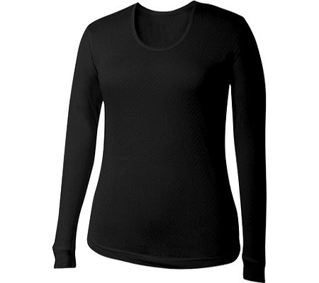 2c17365b66 Image Unavailable. Image not available for. Color  Terramar ThermaSilk CS  Pointelle Silk Lightweight Long Sleeve Scoopneck Shirt - Women s