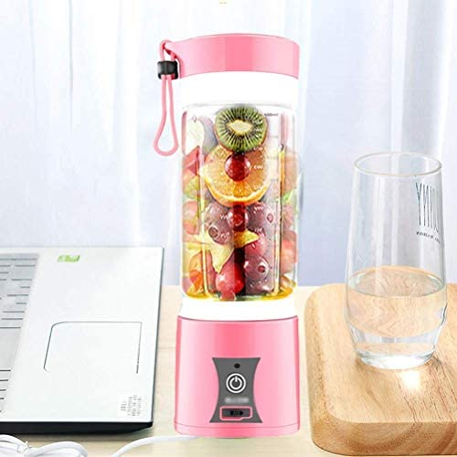 Batidora Batidora Pequeña Licuadora Juicer Cup Portable Fruit Juicer Smoothie Batidora Fruit Extractor Machine Home Usb Recargable Al Aire Libre 6 Cuchillas, O&YQ