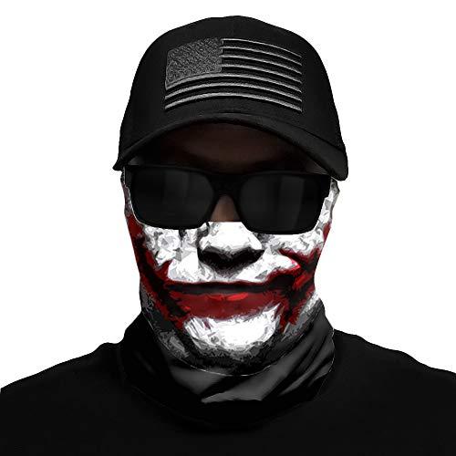 Face Mask Bandanas 10+ Designs - Multi-Use for All Outdoors Adventures (Bandana Joker)