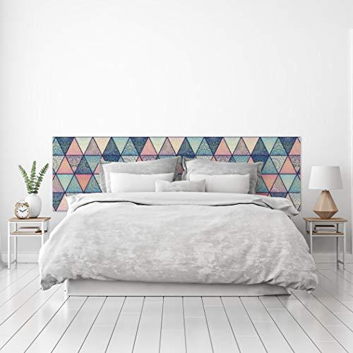MEGADECOR Tête de lit décorative en PVC avec motif géométrique à triangles