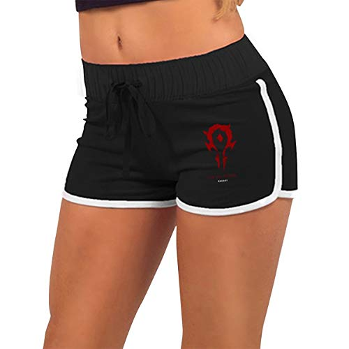 Gilmmer Women Elastic Low Waist Hot Pants for-The-Horde-Warcraft Sexy Yoga Gym Home Athletic Shorts