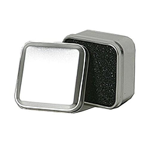 JAM PAPER Square Ring Tin - Small - 2 x 2 x 1 1/4 - Silver - Sold Individually