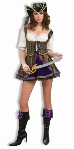 Deluxe Pirate Wench Costumes (Forum Deluxe Designer Collection Flirty Pirate Wench Costume, Multi, X-Large)