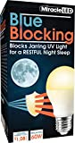 MiracleLED 604591 Blue Blocking Night Time Sleep Bulb in Soothing Amber Glow to Replicate Setting Sun and Produce Melatonin Organically, Single-Pack, 60W Replacement