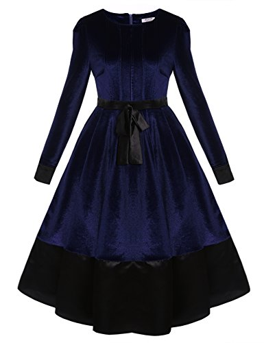 Pleated Bow Front Dress - 7