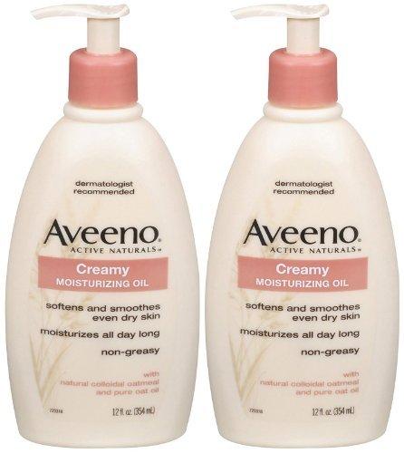 Aveeno Creamy Moisturizing Oil - 12 oz - 2 pk by Aveeno